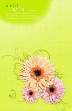 flowers background psd layered 8