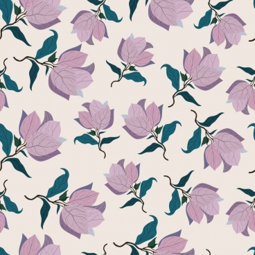 flowers background repeating retro design