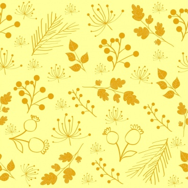 flowers background repeating style sketch