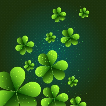 flowers background sparkling dark green decor