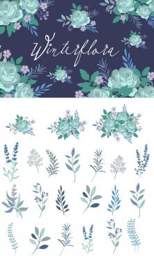 flowers background various types multicolored design