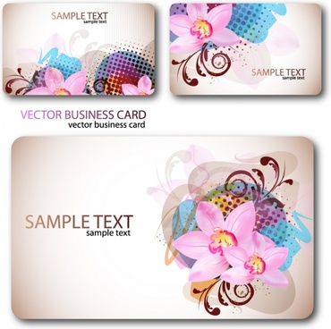 floral cards templates elegant colorful decor