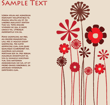 flowers background vector graphic
