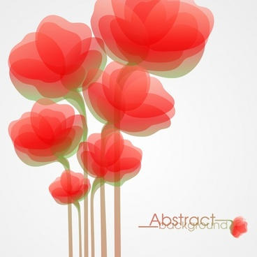 flowers background blurred flat design