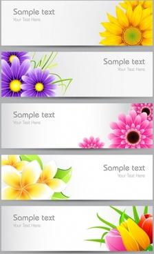 flowers banner01vector