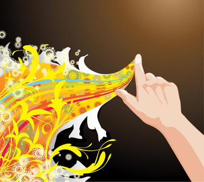 flowers bloom creative illustration vector 1