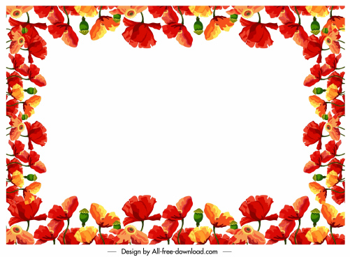 Flower Border Designs Free Vector Download 16 522 Free Vector