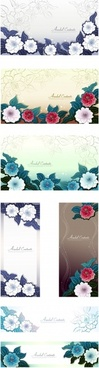 flowers background templates classical colored blurred design