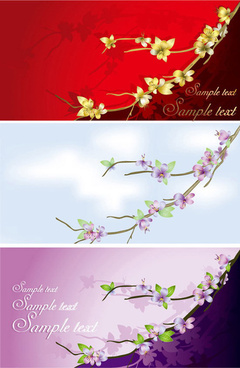 flowers card template
