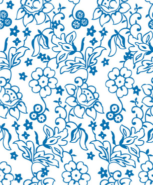 flowers decorative pattern background vector