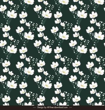 flowers field pattern template contrast design elegant petals