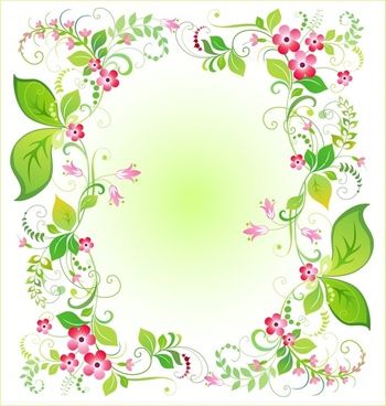 nature background colorful botany leaves frame decor