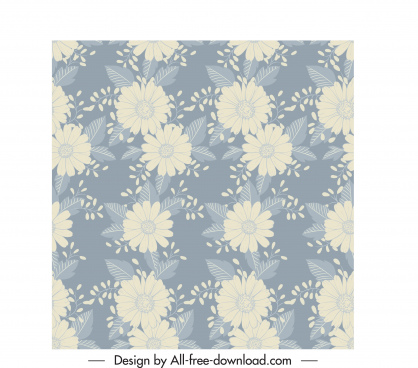 flowers pattern blurred classic design