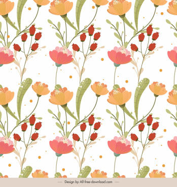 flowers pattern bright colorful classic decor