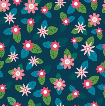 flowers pattern colorful classical repeating design