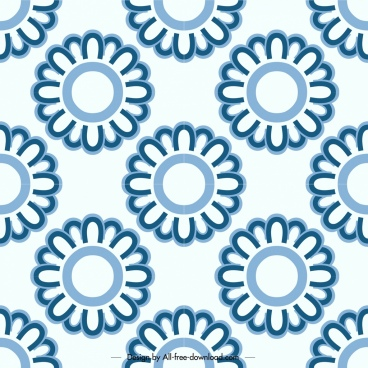 flowers pattern templates flat repeating circles decor