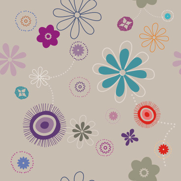 flowers pattern vector graphic