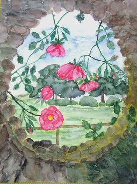 flowers roses painting