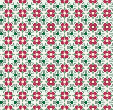 flowers seamless pattern with repeating style design