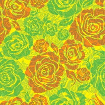 flowers shading pattern 01 vector