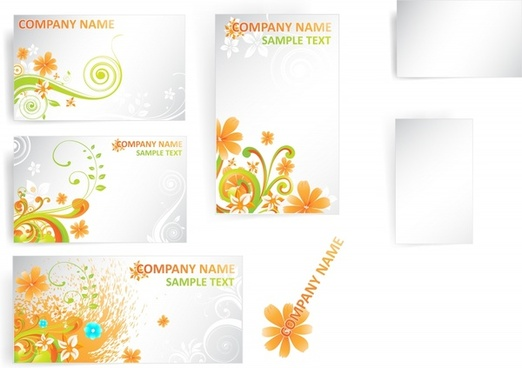 corporate background colorful flowers decor swirl design