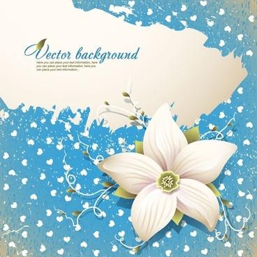 flora background colored petal sketch classic design
