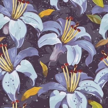 botany painting elegant colored dark handdrawn classic sketch