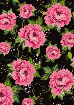 flowers shading vector 3