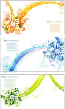 flowers striped background