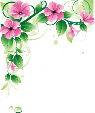 flowers background shiny modern elegant 3d design