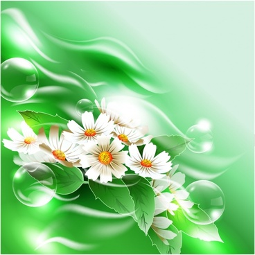 nature background flowers bubbles decor bright modern closeup