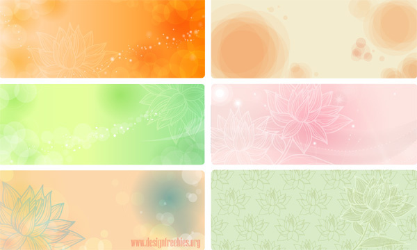 flowers vector banners