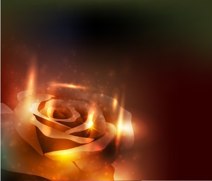 rose background sparkling light effect decor 3d design