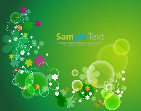 flowers with green background