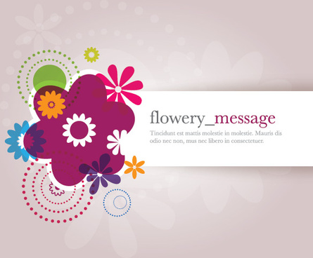 flowery message vector graphic