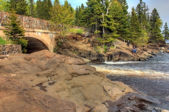 flowing into superior at cascade river state park minnesota