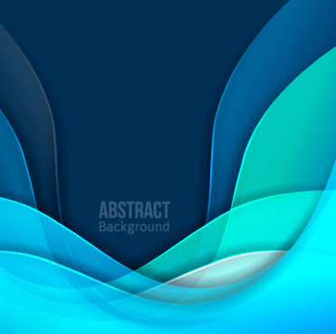 flowing lines waves colored background vector