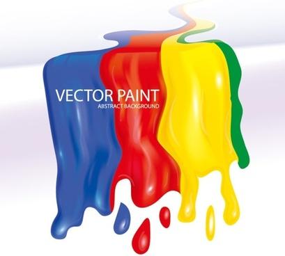 flowing paint 01 vector