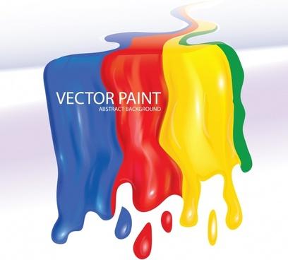 flowing pigment vector
