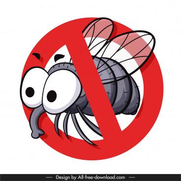 fly kill sign template funny cartoon sketch