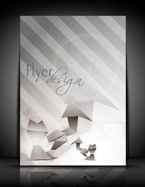 flyer and brochure background vector
