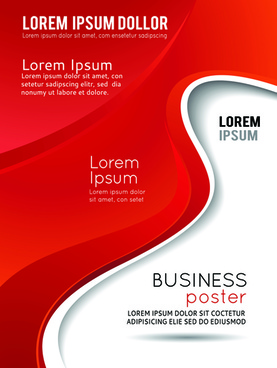 flyer and cover brochure abstract styles vector