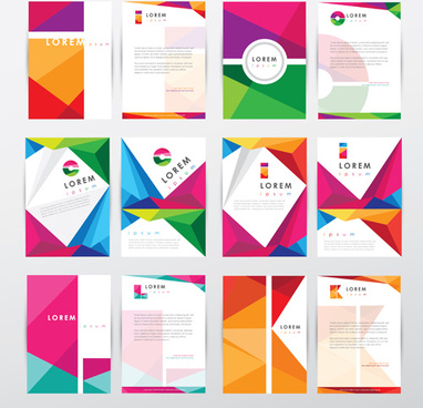 flyer and cover brochure modern vector