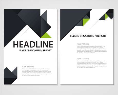 flyer brochure report template with modern style design
