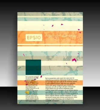 flyer cover template retro dynamic decor