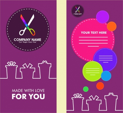 flyer design craft logo style colorful circles decoration