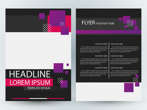 flyer design with dark contrast colored background