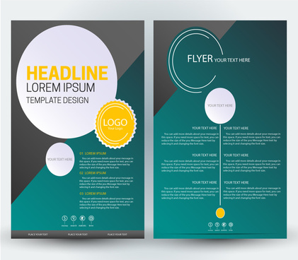 flyer design with dark green background
