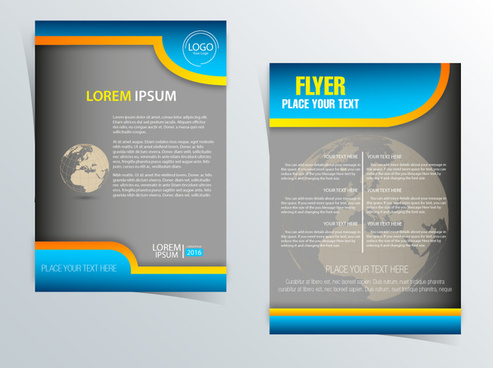 flyer design with globe vignette illustration