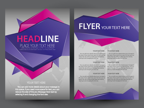 flyer design with modern abstract vignette style